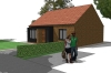 Artists Impression of a Pair of Semi-Detached Bungalows