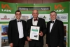 Steve Sowerby, Steve Lyon and Mike Upton with the 'Highly Commended' Certificate